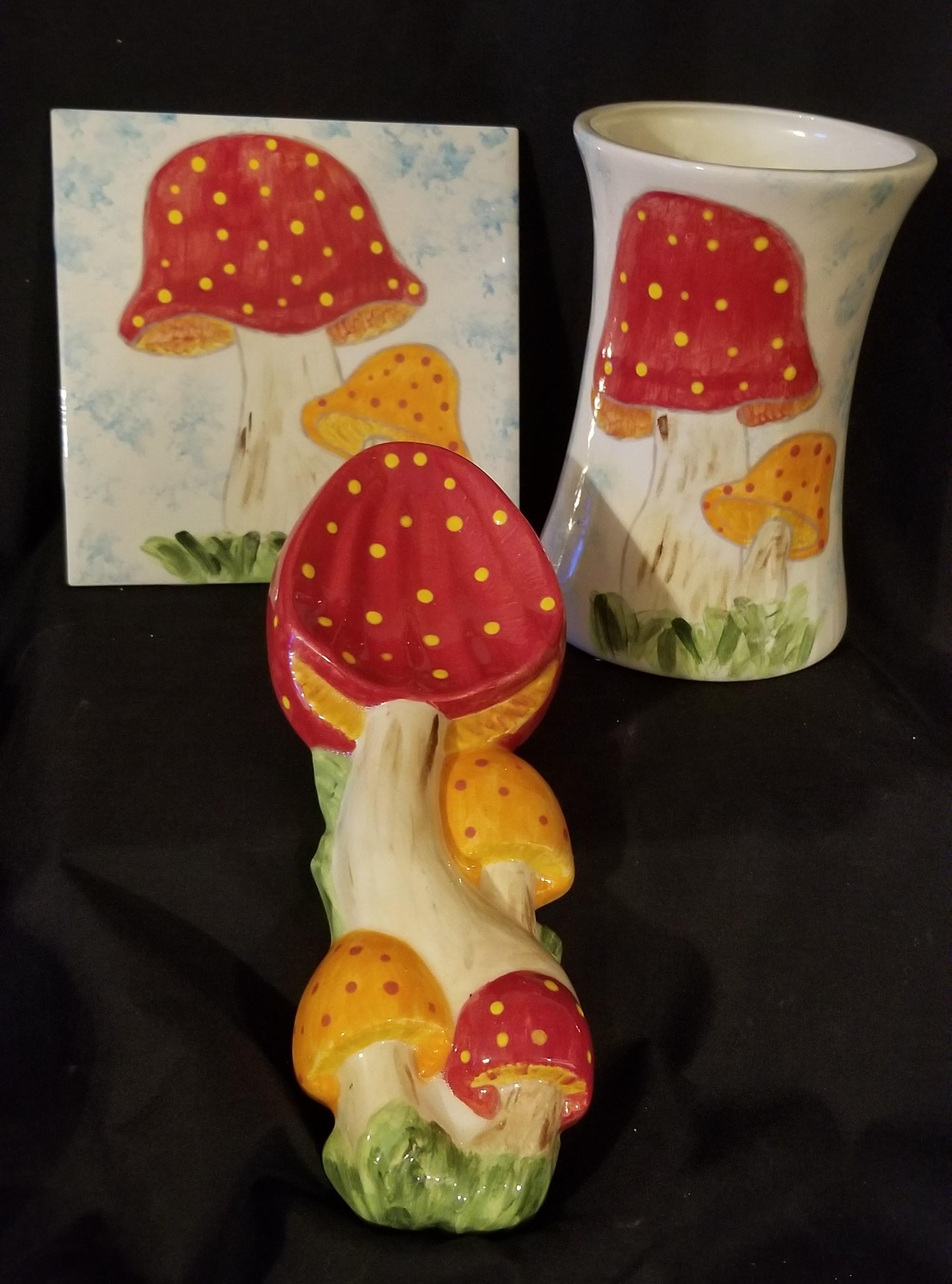 Kitchen Set - Mushrooms 3 piece 2