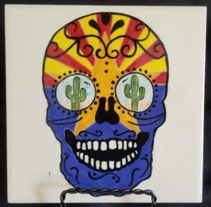 Sugar Skull - Tile - AZ 1