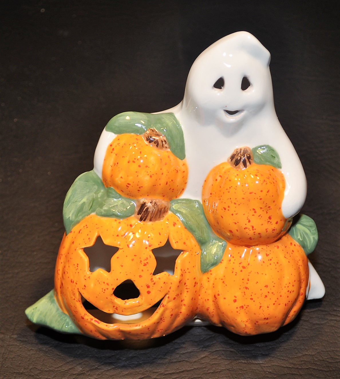 ghost with pumpkins