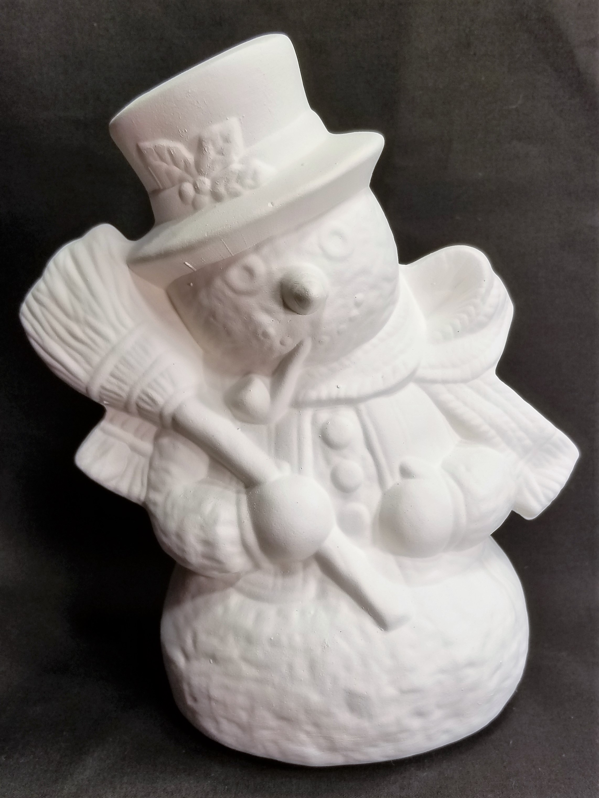 Snowman - Large with broom